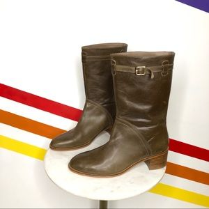 NEW Farylrobin x FP revere taupe leather boots